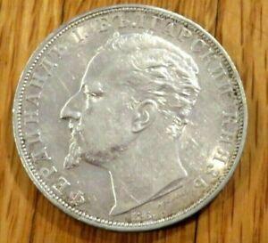 Very Nice 1894 Silver Bulgaria 5 Leva Coin (N53)