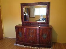 Beautiful 1950 Mahogany Dresser with Mirror by Daniel Jones Furniture, Ny
