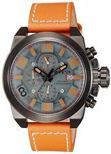New Invicta 18994 Corduba Edge Grey Dial Orange Leather Chronograph 50mm watch