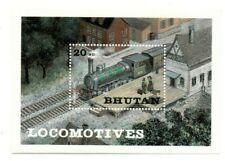 SPECIAL LOT Bhutan 1984 430 - Crampton's Locomotive - 50 Souvenir Sheets - MNH