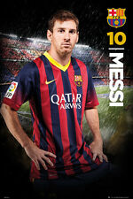 Rare Lionel Messi STORMING SUPERSTAR FC Barcelona Football Soccer Action POSTER