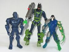 BATMAN 12cm Toy Figure Set  BATMAN vs BANE & MECHANICAL METAL MAN
