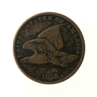 Raw 1858 Flying Eagle 1C Uncertified Ungraded Circulated US Mint Copper Cent