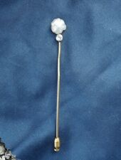 Tiffany & Co. Antique Pearl Diamond 18kt Platinum Stick Pin Brooch