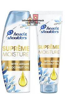 Head & Shoulders SUPREME MOISTURE Shampoo 400ml  AND Conditioner 275ml