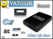YATOUR USB AUX Interfaccia Adattatore Lettore MP3 Autoradio Smart Fortwo ForFour