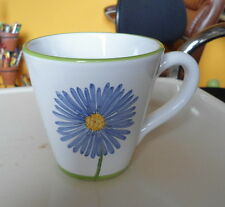 MARIPOSA Coffee Tea Mug by Jilly Walsh White Green Periwinkle Made in Italy EUC