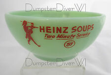 Rare Heinz 57 Soup two minute service bowl jadite jadeite Fire King 40s 1950s