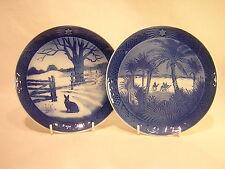 2 Royal Copenhagen Christmas Collector Plates ~ 1971 ~ 1972