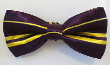 MEN'S/LADIES/ADULT SHINY SATIN FINISH PRE-TIED FUNKY PATTERNED FASHION BOW TIES
