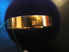 BAGUE ALLIANCE RUBAN 4 MM PLAQUE OR LAMINEE MADE IN FRANCE VINTAGE NEUF T 49
