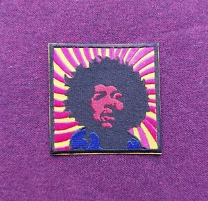 Jimi Hendrix Patch Sew / Iron On Music Festival Badge (a)