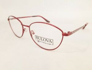 BULOVA Utopia Twist Titanium eyeglasses Frame Garnet Red 53mm WOMEN