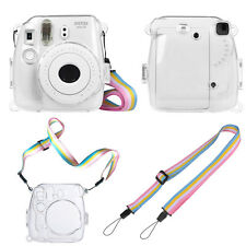 For Fujifilm Instax Mini 9 / 8 / 8+ Camera Clear Hard PVC Case Cover with Strap