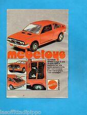 TOP977-PUBBLICITA'/ADVERTISING-1977- MATTEL - ALFASUD SPRINT MEBETOYS