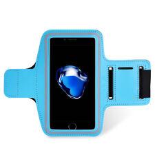 BRACCIALE Fascia BRACCIO SPORT per iPhone 6 6S 7 8 Armband Fitness CORSA BLU