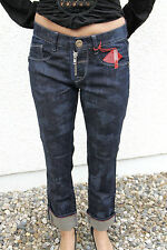 M&F GIRBAUD jeans first boyfriend bicolore T W32 (42) NEUF prix boutique 320€