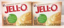 Jello Coconut Creme Instant Pudding & Pie FIlling 3.4 oz ( 2 Boxes )