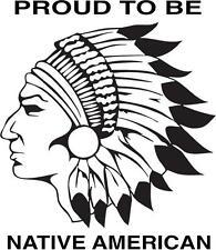 Car or Truck Window Die Cut Vinyl Sticker #140 Native American Indian Chief
