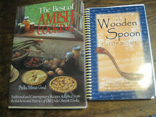 Wooden Spoon-Authentic Amish Cooking-MILLER&BESTOF AMISH COOKING-GOOD-2 COOKBKS