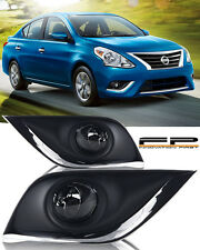 For 2016-2017 Nissan Versa Fog Lights Clear Lens Complete Kit Switch+Harness