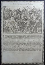 Gravures sur bois Woodcut print Jean Cousin Figures de la Sainte BIBLE Folio 79