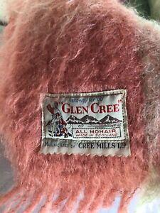 "Vintage GLEN CREE Mohair Blanket Scotland 72""x 50"""
