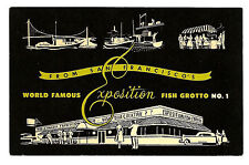 San Francisco CA Vintage Postcard Exposition Fish Grotto No. 1 Restaurant 1950s