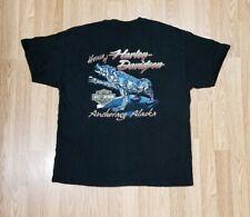 Vintage House Harley Davidson Motorcycles Anchorage Alaska T-Shirt Xl Polar Bear