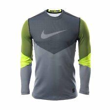 NIKE PRO HyperWarm Compression Training Shirt 699974 702 Gray Green Mens Size XL