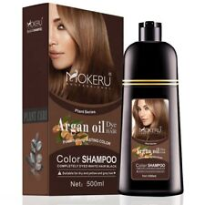Mokeru Natural Permanent Instant Fast Hair Dye Color Shampoo with Argan Oil: HOT