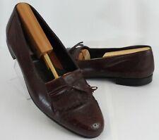 Mens Stanley Blacker Italian Kiltie Leather Slip-On Loafers Shoes Size 9.5 D