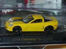 AUTO WORLD 2011 CHEVY CALLAWAY CORVETTE -Yellow, ROAD & TRACK w/PLASTIC CASE
