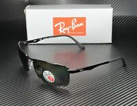 RAY BAN RB3498 002 9A Black Green Polarized 61 mm Men's Sunglasses