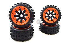 MadMax Big Digger Tyres Complete Wheel Kit Orange HD Beadlock for HPI Baja Buggy