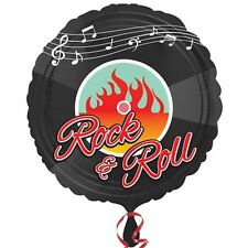 CLASSIC 50's FOIL BALLOON ROCK AND ROLL PARTY DECORATION RECORD MUSIC NOTES