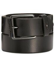 Levi's Men's Nose-Wrap Leather Belt, Black, Size 30-32