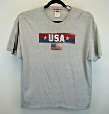 Sonoma Life + Style USA Short Sleeve Men's X-Large Tee Shirt Gray w/USA Graphic