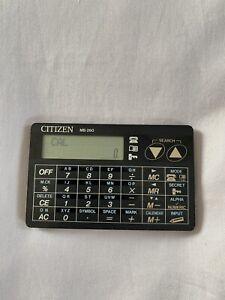 Citizen MB-260 Vintage Pocket Calculator - Calendar - Memory Bank - JAPAN