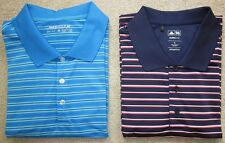 Two!  Nike Dri-Fit & Adidas Climalite Golf Polos Sz XL Navy Blue White Light Red