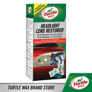 Turtle Wax 51768 Headlight Lens Restorer Kit Stops Mot Fail 2 X 118Ml