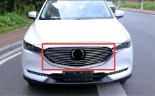 Stainless steel Front Grille Grill Cover Trim refit Fit For Mazda CX-5 2017 2018