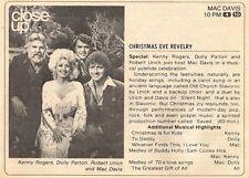 1979 TV CHIRSTMAS AD~MAC DAVIS~DOLLY PARTON~KENNY ROGERS~ROBERT URICH