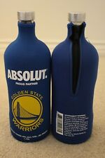 Absolut Vodka Golden State Warriors GSW Bottle Skin Sleeve Cozy NEW Fits 1.75L