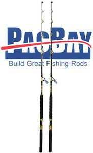 Xcaliber Marine Pair of Tournament Series 80-130lb Trolling Rod Red and Gold