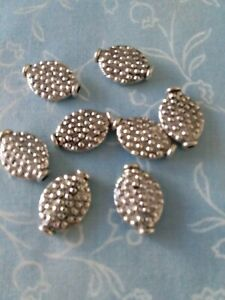 8 Antique Silver Spacer Beads