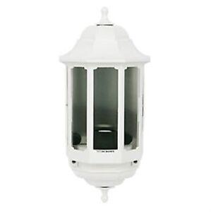 ASD 60W White Half Lantern Wall Light Photocell Included