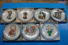 Schmid Germany Limited First Edition 1971-77 Christmas Plate Collection