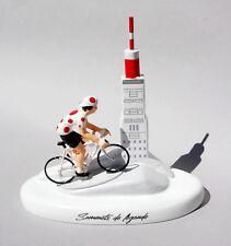 figurine cycliste grimpeur au mont ventoux