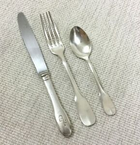Air France Concorde Cutlery Christofle Silver Plated Cluny Aviation Flatware Set